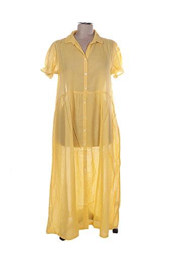 Robe longue jaune CHICOSOLEIL pour femme