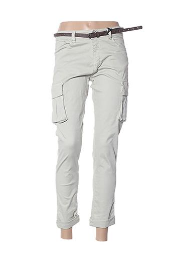 Pantalon 7/8 gris DENIM pour femme