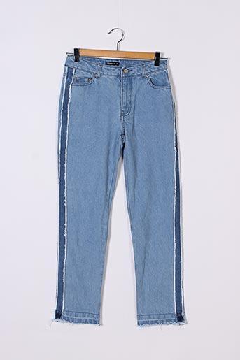 Jeans coupe slim bleu FOLLOW ME pour femme