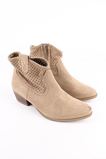 Bottines/Boots beige CLAUDIA GHIZZANI pour femme