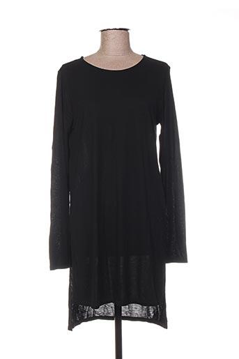 Robe mi-longue noir BENETTON pour femme