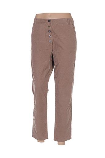 Pantalon 7/8 beige BENETTON pour femme