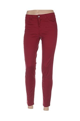 Pantalon 7/8 rouge BENETTON pour femme