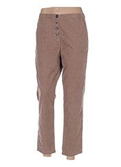 Pantalon 7/8 beige BENETTON pour femme seconde vue