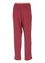 Pantalon 7/8 rose BENETTON pour femme seconde vue