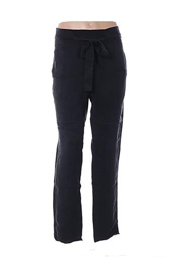 Pantalon 7/8 noir MY SUNDAY MORNING pour femme