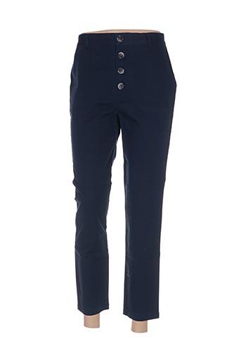Pantalon 7/8 bleu BELLA JONES pour femme