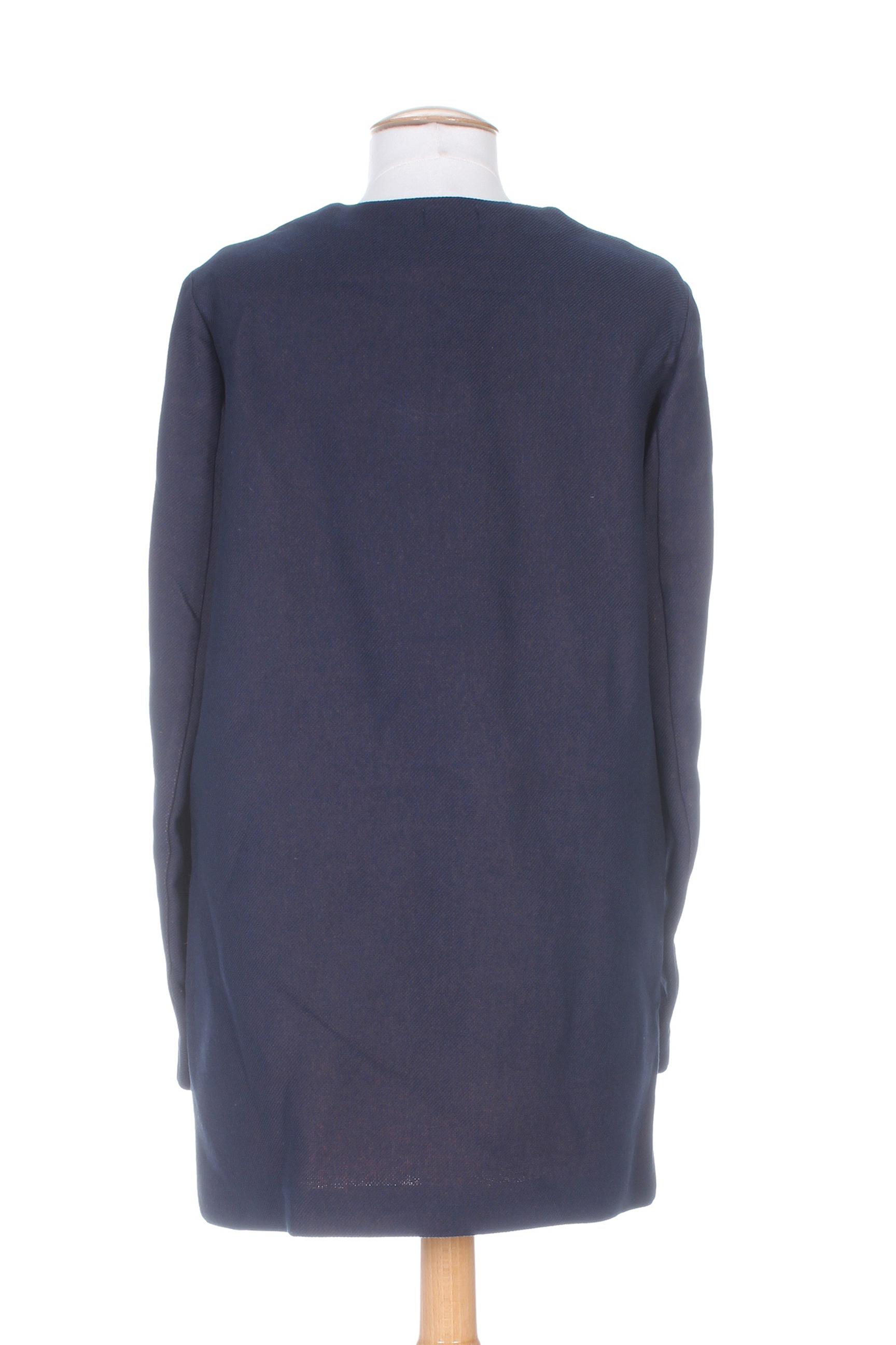 Benetton Manteaux Longs Femme De Couleur Bleu En Soldes Pas Cher 1391265-bleu00