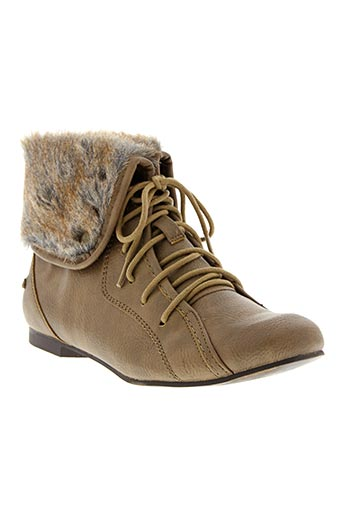 Bottines/Boots beige MUSTANG pour fille