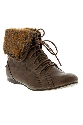 Bottines/Boots marron MUSTANG pour fille