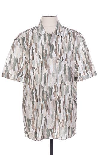 Chemise manches courtes vert CERRUTI 1881 pour homme