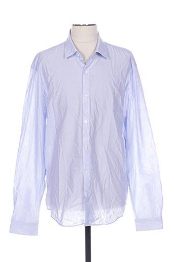 Chemise manches longues bleu CERRUTI 1881 pour homme