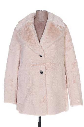 Manteau long beige HOLLY & JOEY pour femme