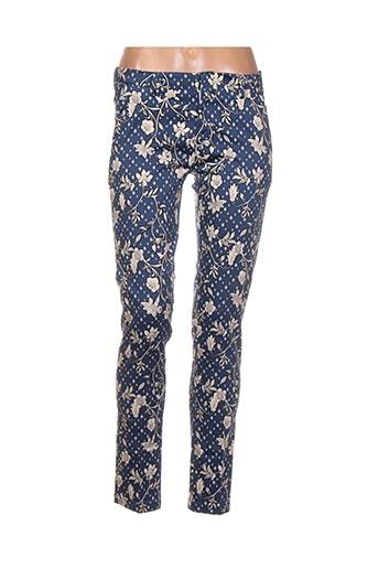 Pantalon 7/8 bleu BO'AIME pour femme
