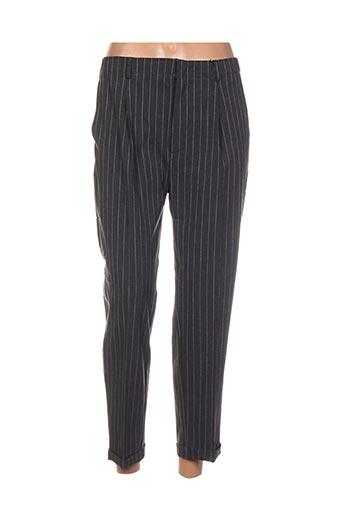 Pantalon 7/8 gris BO'AIME pour femme
