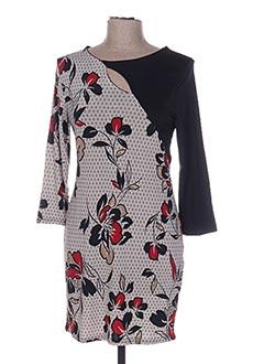 Robe mi-longue noir MULTIPLES pour femme