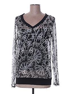 T-shirt manches longues noir MULTIPLES pour femme