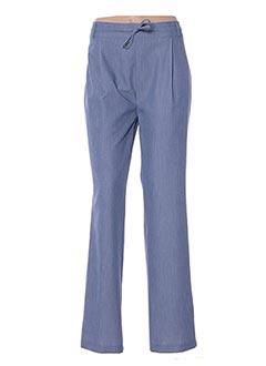 Pantalon chic bleu MULTIPLES pour femme
