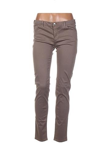 Pantalon casual marron ARMANI pour femme