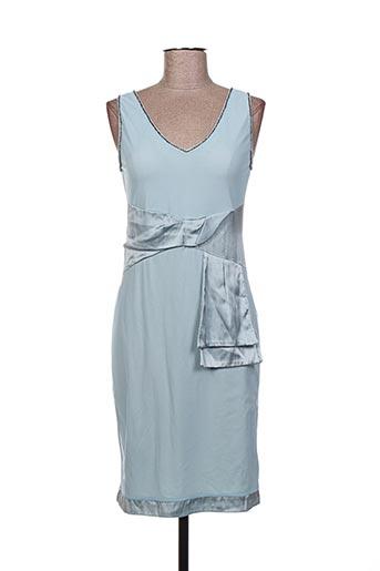 Robe mi-longue bleu DONA CARLOTA pour femme