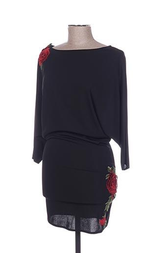 Robe mi-longue noir POUPÉE DE SOIE pour femme