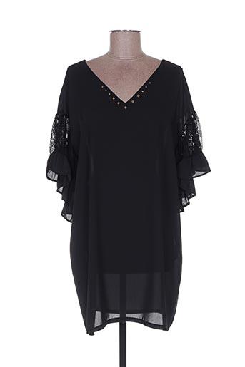 Robe courte noir POUPÉE DE SOIE pour femme