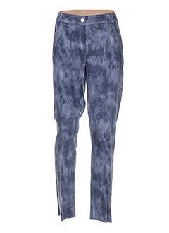 Pantalon casual bleu JEAN DELFIN pour femme