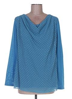 Pull col bénitier bleu CAMOMILLA pour femme