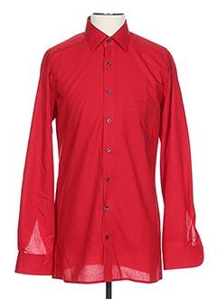 Chemise manches longues rouge MARVELIS pour homme