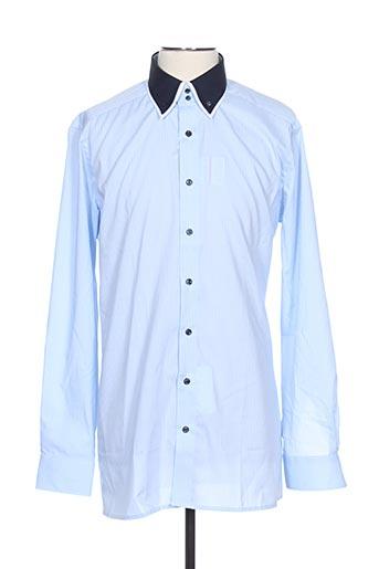 Chemise manches longues bleu MARVELIS pour homme