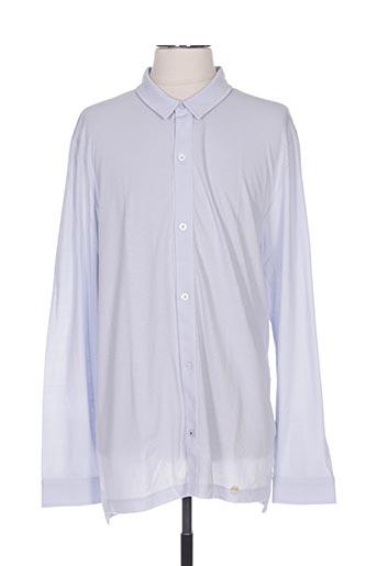 Chemise manches longues bleu HANRO pour homme
