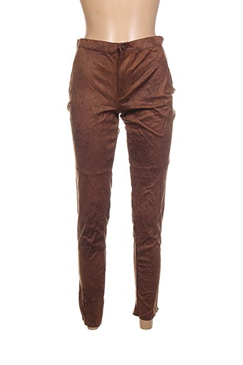 Pantalon 7/8 marron CALZEDONIA pour femme