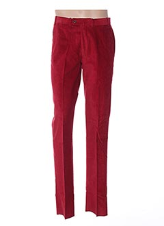 Pantalon casual rouge BERNARD ZINS pour homme