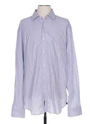 Chemise manches longues bleu BREUER pour homme