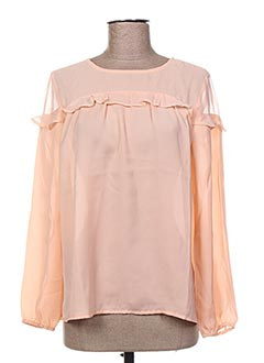 Blouse manches longues rose BECKARO pour fille