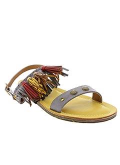 Sandales/Nu pieds gris DELIRES DE FILLE pour femme