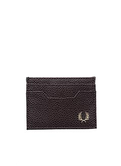 Porte-carte marron FRED PERRY pour homme