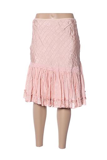 Jupe mi-longue rose TARA JARMON pour femme