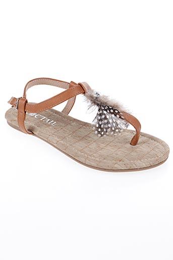 Sandales/Nu pieds marron COC'TAIL pour fille