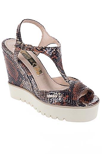 Sandales/Nu pieds marron CASSIS COTE D'AZUR pour femme