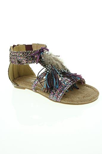 Sandales/Nu pieds violet COC'TAIL pour fille