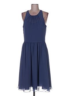 Robe mi-longue bleu COLOUR BY KENNETH WINSTON pour femme