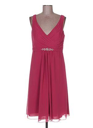 Robe mi-longue rose COLOUR BY KENNETH WINSTON pour femme