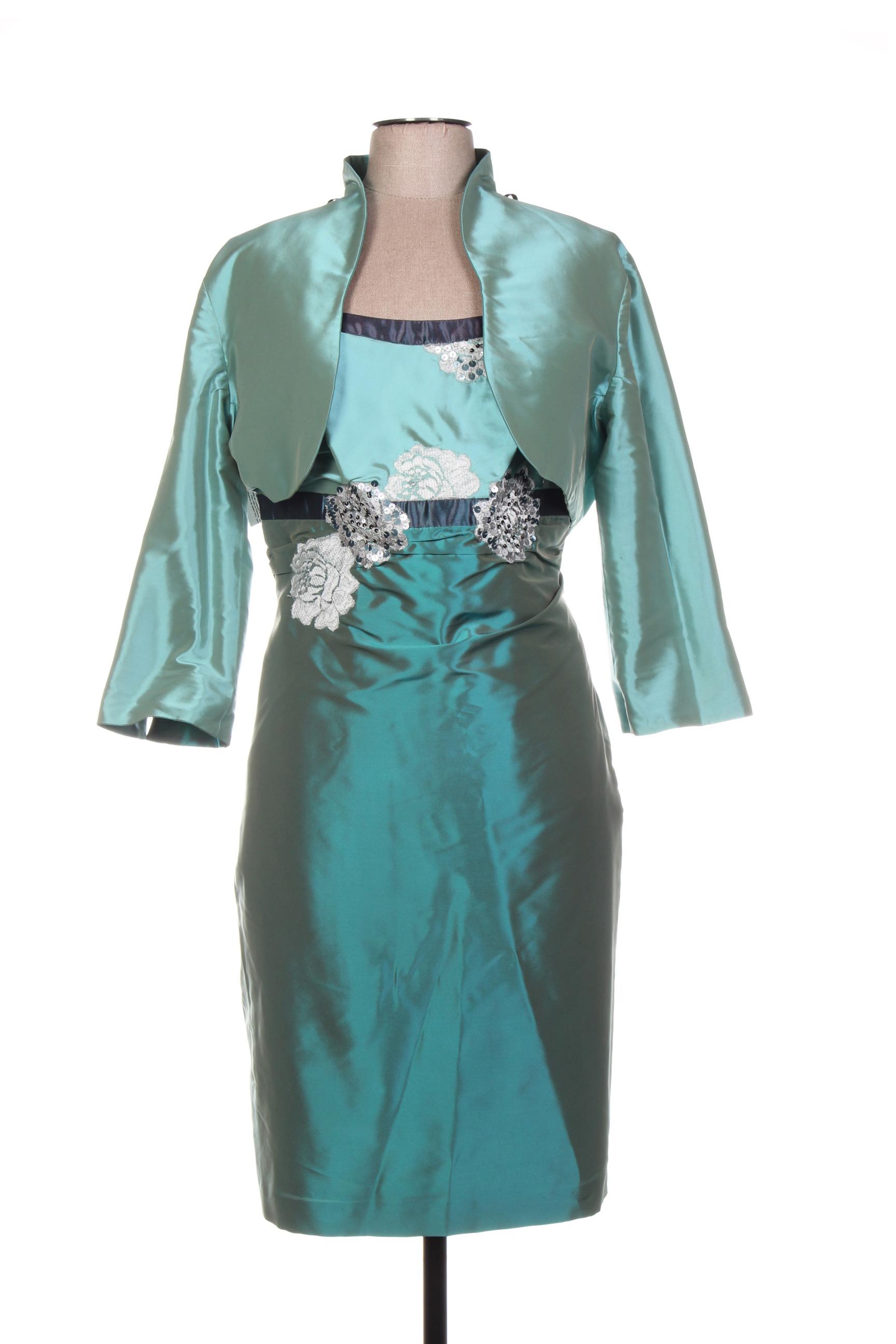 Linea Raffaelli Robe Veste Femme De Couleur Bleu En Soldes Pas Cher 1394493-bleu00
