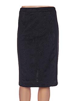 Jupe mi-longue noir DIVAS pour femme