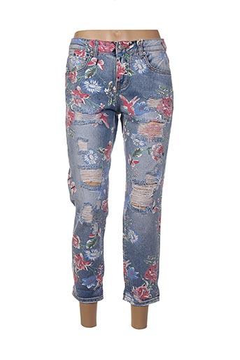 Pantalon 7/8 bleu FARFALLINA pour femme