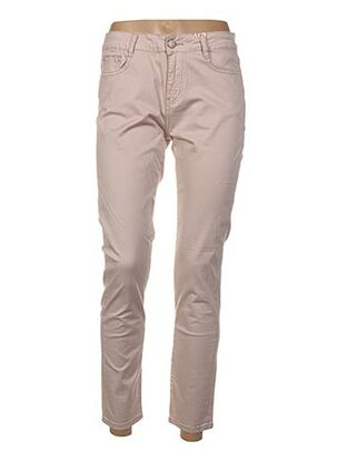 Pantalon 7/8 beige FARFALLINA pour femme