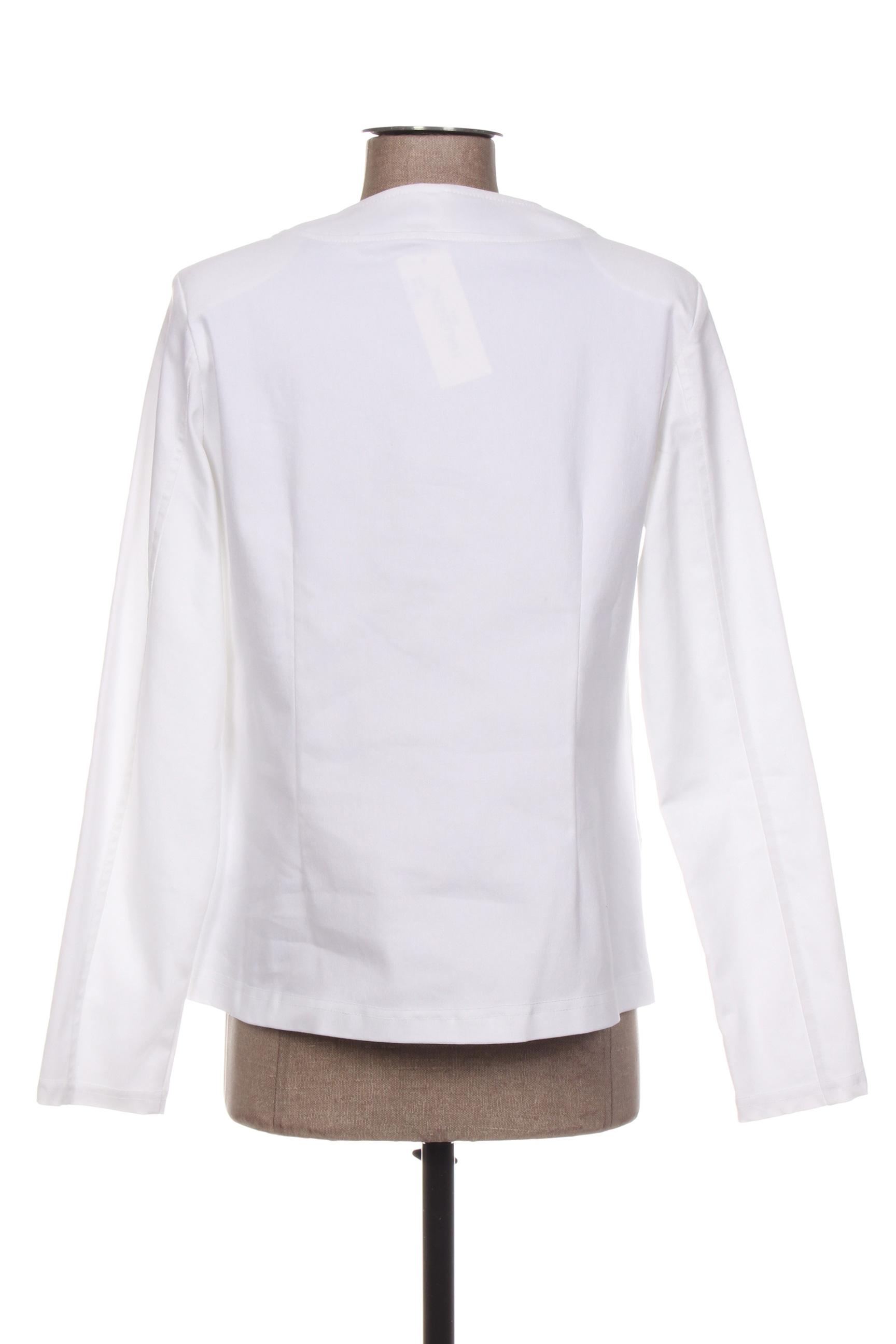 Halogene Vestechic Femme De Couleur Blanc En Soldes Pas Cher 1390974-blanc0