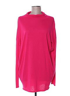 Pull col cheminée rose APRIORI pour femme
