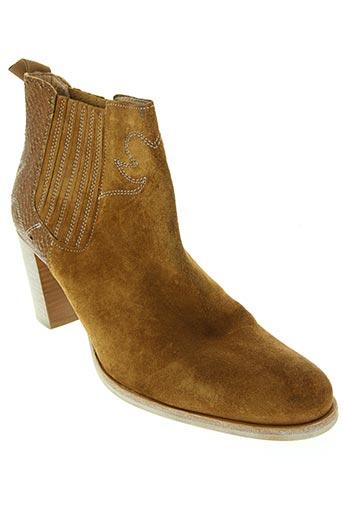 MURATTI Chaussures BottinesBoots de couleur marron en soldes pas cher 1391103 marron Modz